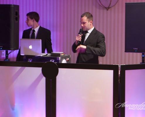 DJ Geoff Pusko introduces the bride and groom