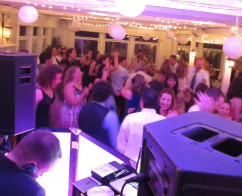 A view from the DJ booth at this CT wedding
